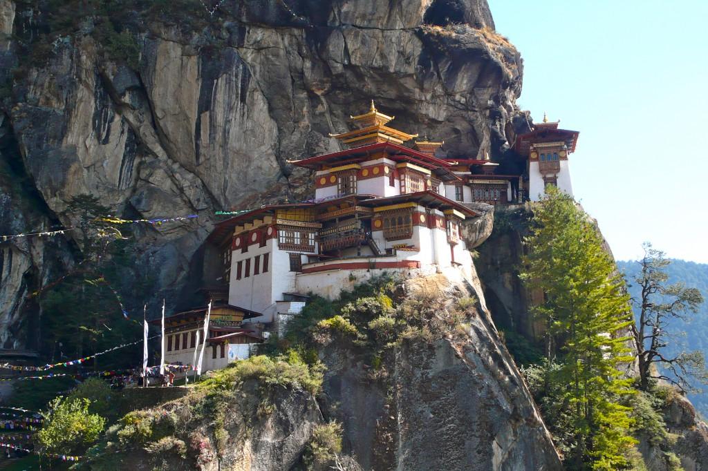"""Klosteret """"Tigers Nest"""" i Bhutan."""