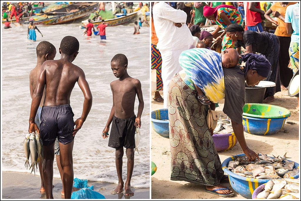 Tanji fiskemarked i Gambia